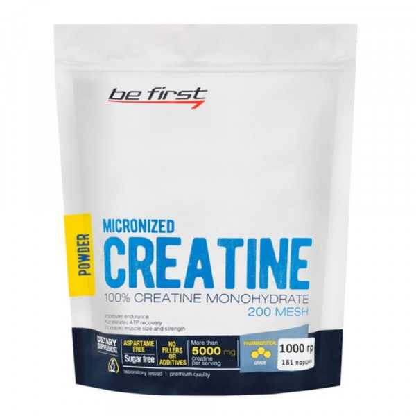 BE FIRST Micronized creatine monohydrate powder, 1000 g