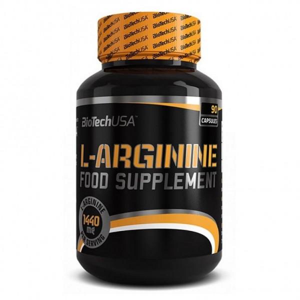 BIOTECH L-ARGININE 500 mg, 90 капсул