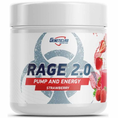 GENETIC LAB RAGE 2.0, 250 г, 30 порций