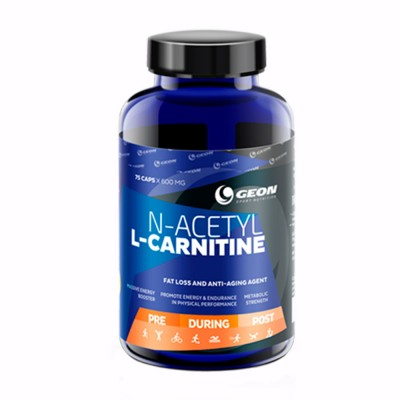 GEON ACETYL L-CARNITINE 600 mg, 75 капсул