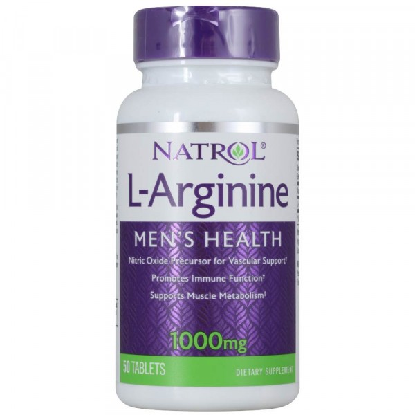NATROL L-ARGININE, 1000 мг, 50 таблеток