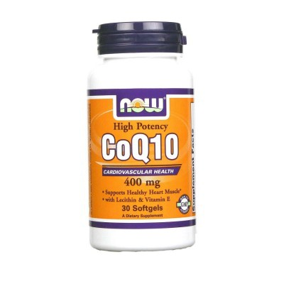 NOW COQ10, 400 mg, 30 капсул
