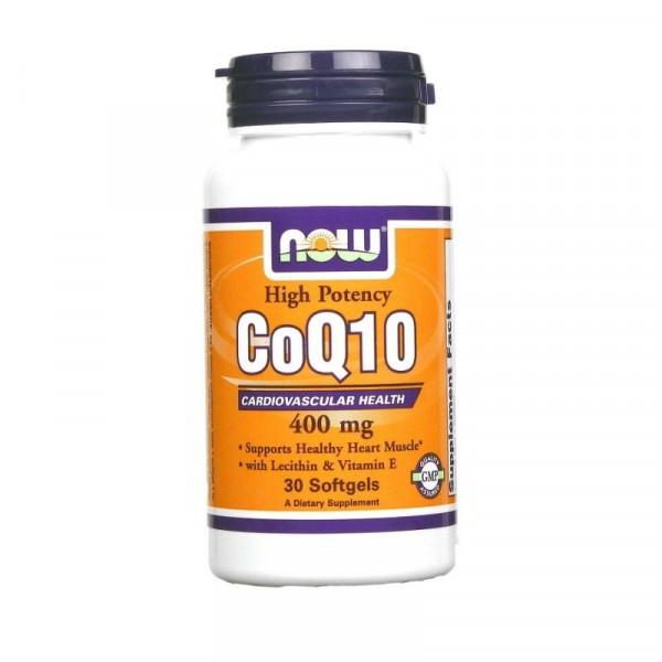 NOW COQ10, 400 mg, 30 капсул