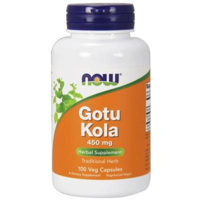 NOW GOTU KOLA, 450 мг, 100 капсул