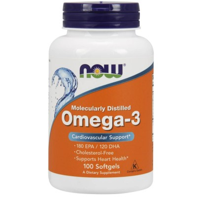 NOW OMEGA 3, 100 капсул