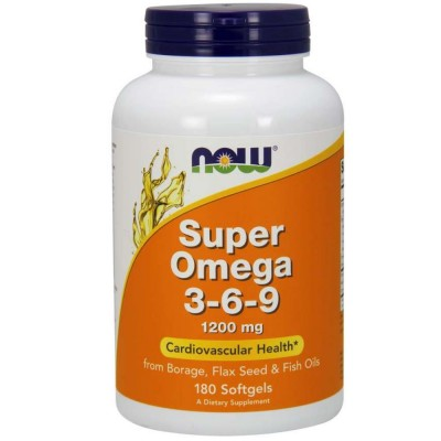 NOW OMEGA 3-6-9, 1200 мг, 180 капсул