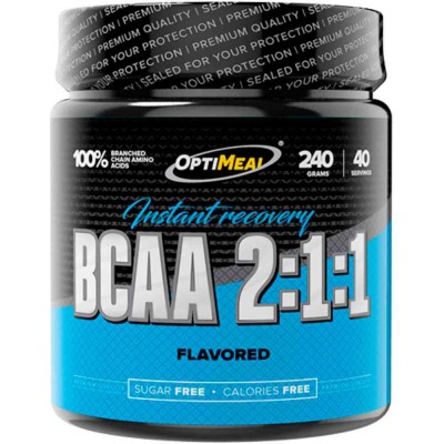 OPTIMEAL BCAA 2:1:1 INSTANT RECOVERY, 240 гр, 40 порций