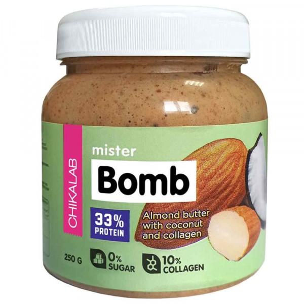 Паста миндальная с кокосом CHIKALAB MISTER BOMB, 250 г
