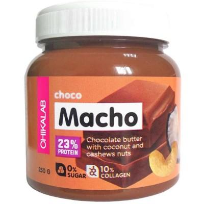 Шоколадная паста с кокосом и кешью CHIKALAB MACHO, 250 г